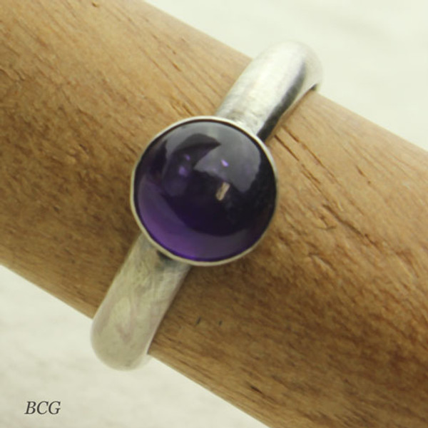 Amethyst Sterling Silver Ring #RI-317
