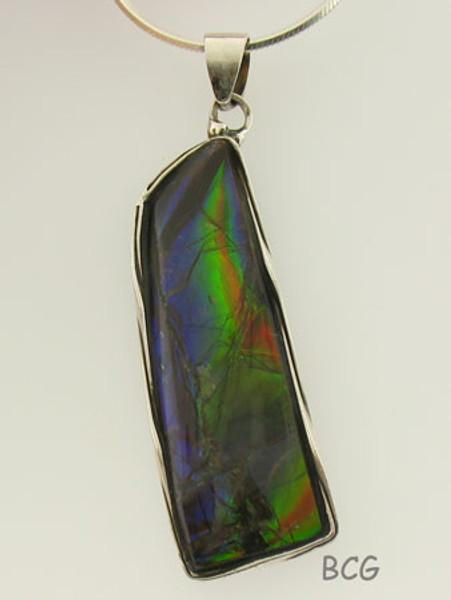 Genuine Natural Ammolite Necklace #1699
