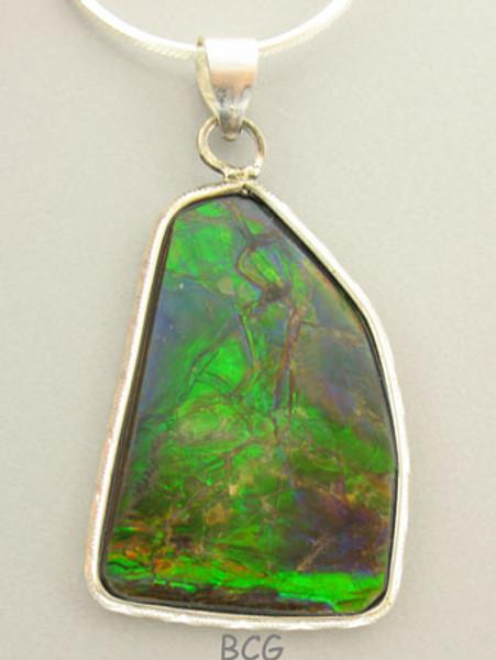 Genuine Natural Ammolite Necklace #1700