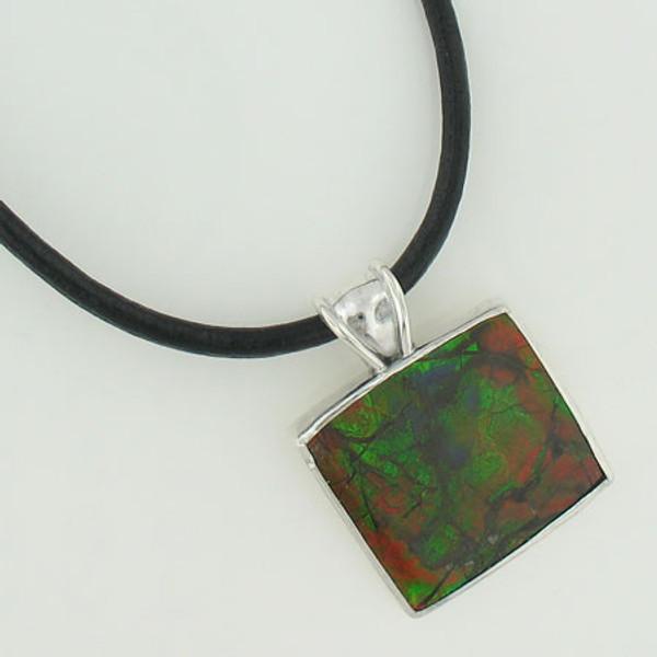 Genuine Natural Ammolite Necklace #5023