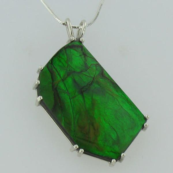 Genuine Natural Ammolite Necklace #5028