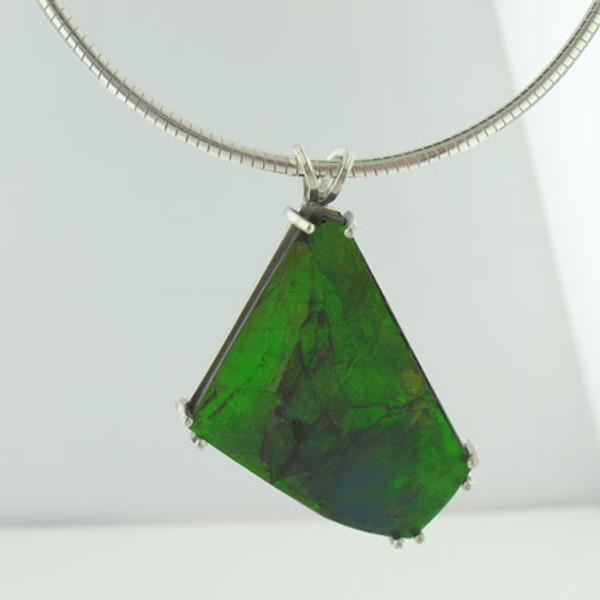 Genuine Natural Ammolite Necklace #5029