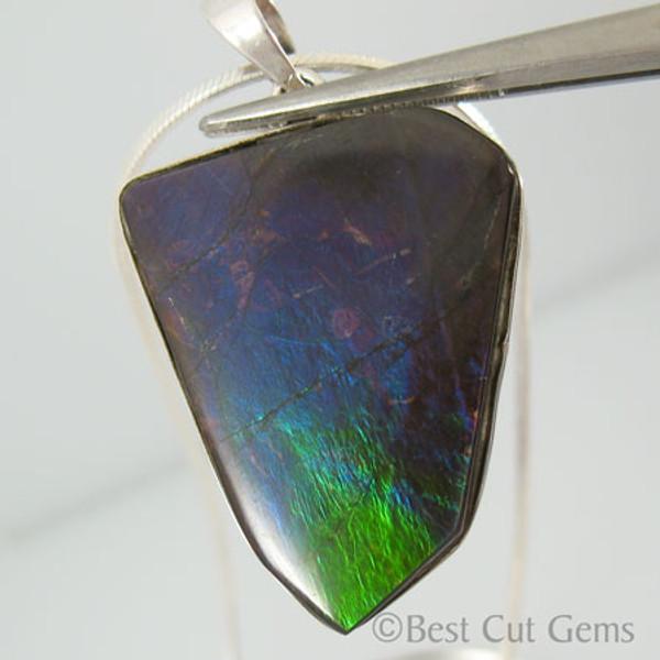 Genuine Natural Ammolite Necklace #5034