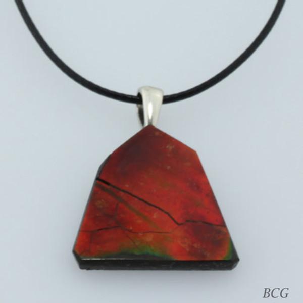 Genuine Natural Ammolite Necklace #P-012
