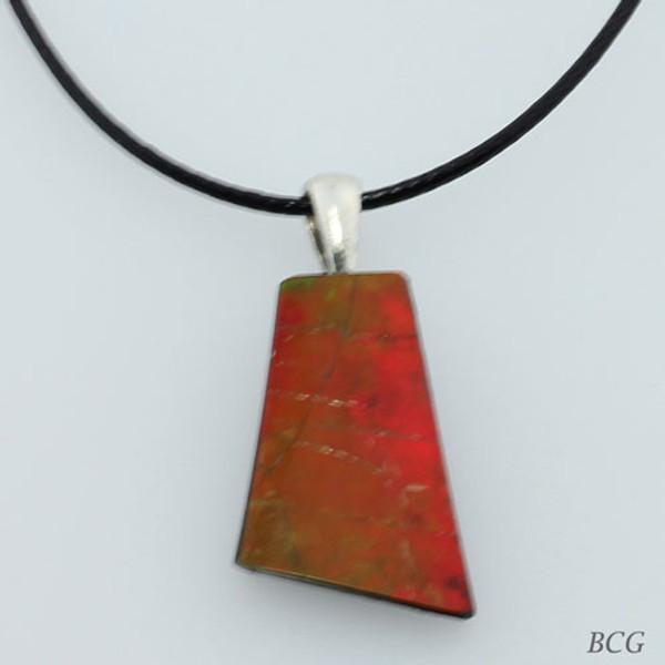 Genuine Natural Ammolite Necklace #P-014