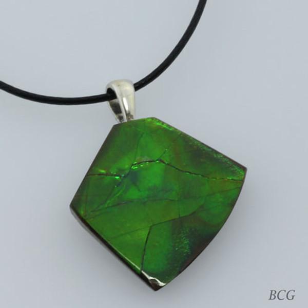 Genuine Natural Ammolite Necklace #P-015
