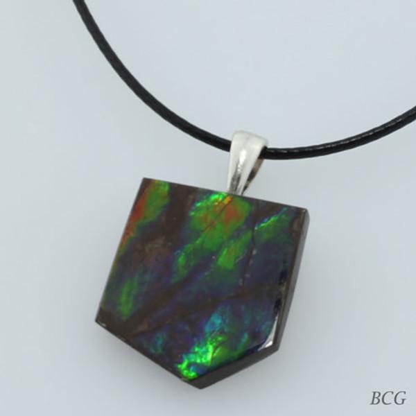 Genuine Natural Ammolite Pendant #P-016