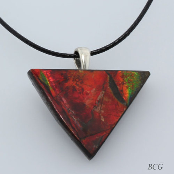 Genuine Natural Ammolite Necklace #P-019