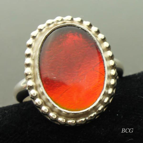 Genuine Ammolite Ring #RI-321