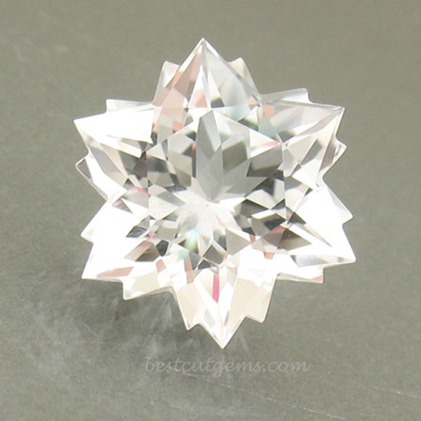Colorless Topaz Snowflake #G-2334