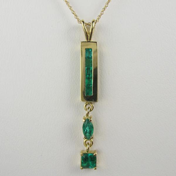 Genuine Colombian Emerald Pendant & Chain