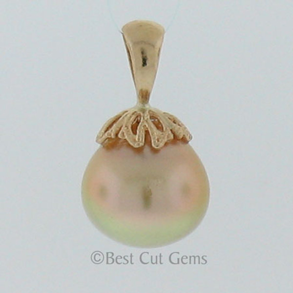 Golden South Sea Pearl Pendant #GP-1126