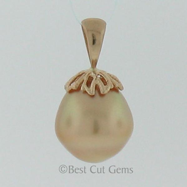 Golden South Sea Pearl Pendant #GP-1127