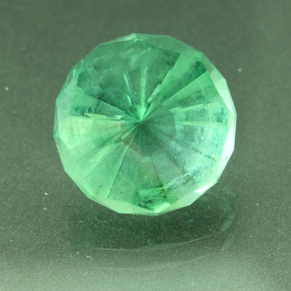 Custom Faceted green Fluorite #G-2400