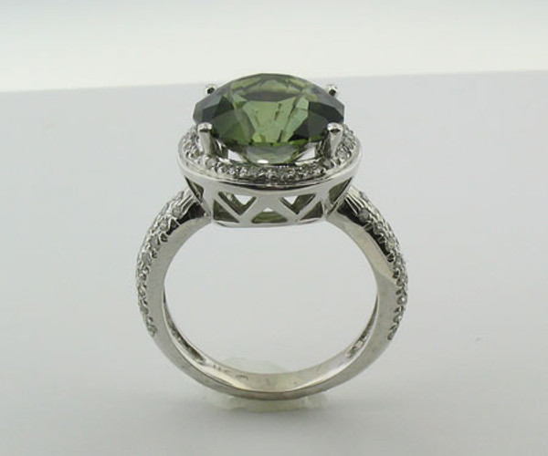 Green Tourmaline & Diamond Ring #6002
