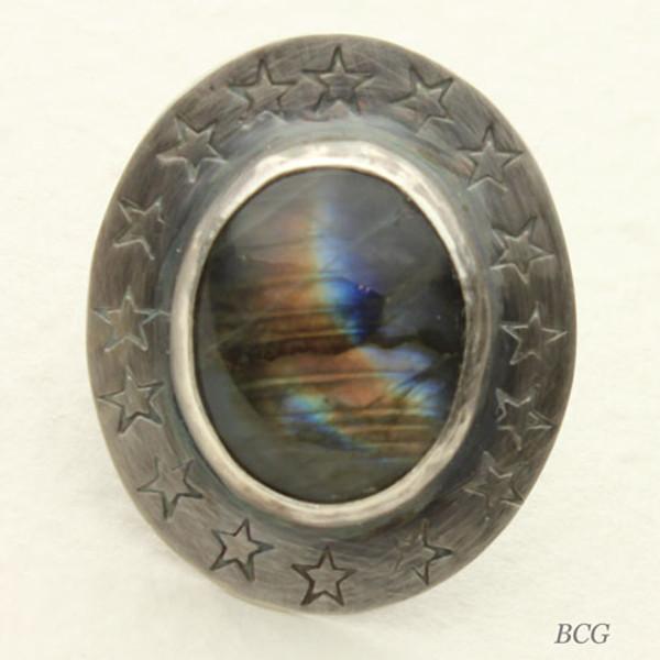 Labradorite Sterling Silver Ring #RI-323