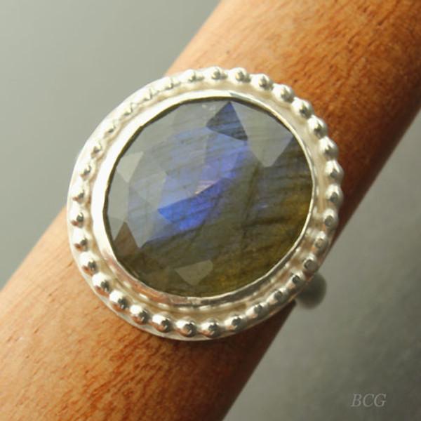 Labradorite Sterling Silver Ring #RI-325
