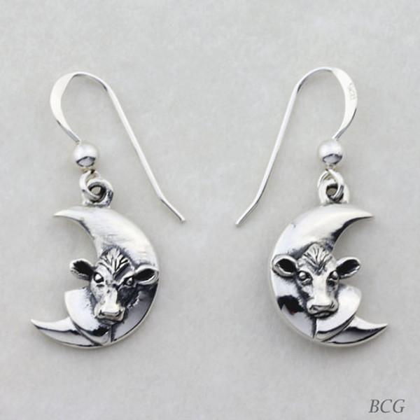 Luna - Moo-n Cow Earrings TER-1462