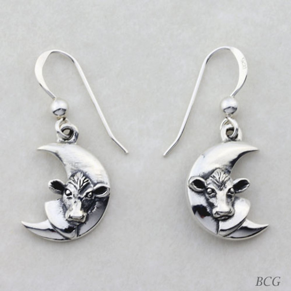 Luna - Moo-n Cow Earrings TER-1462
