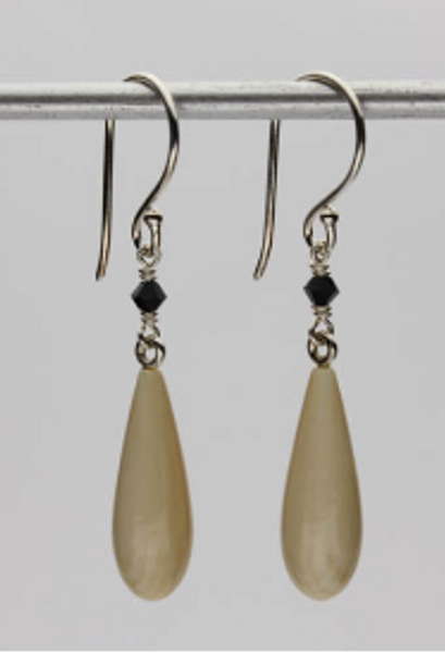 Genuine Woolly Mammoth Ivory Earrings #469