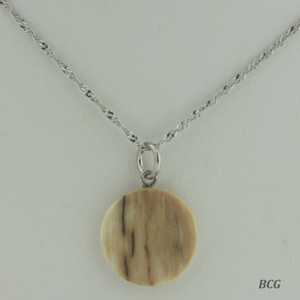 Genuine Natural Mammoth Ivory Necklace #953