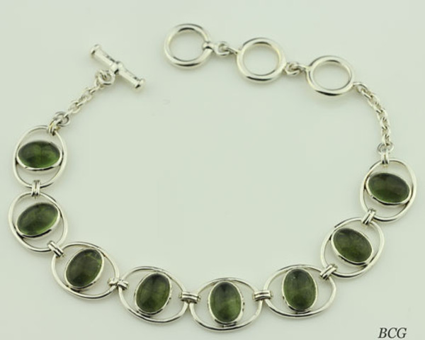 Beautiful Moldavite Bracelet #746