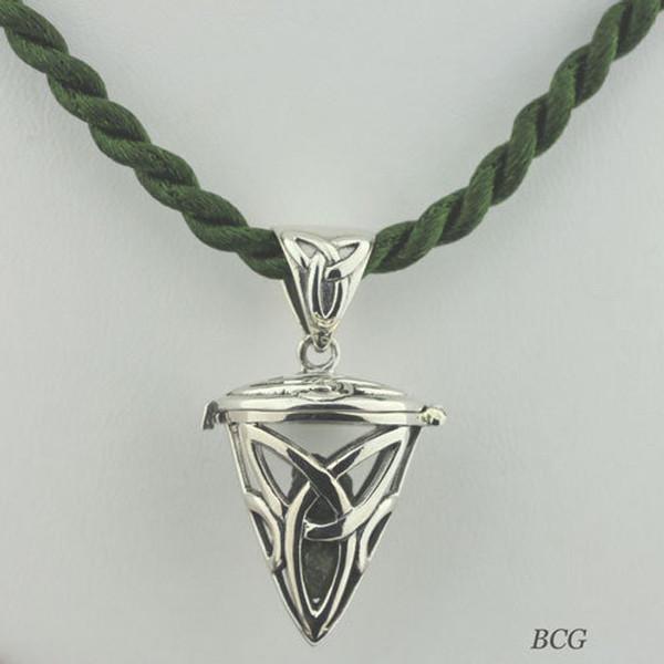 Moldavite Caged Necklace #706