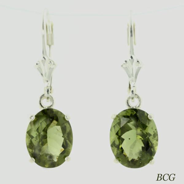 Beautiful Moldavite Earrings #108D