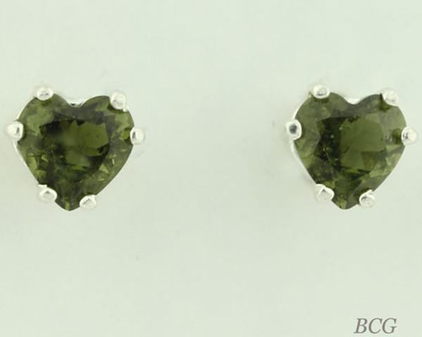 Beautiful Moldavite Earrings #664 Genuine Moldavites