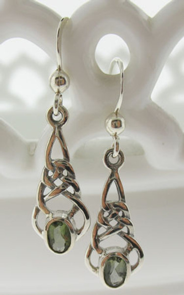 Beautiful Moldavite Earrings #731