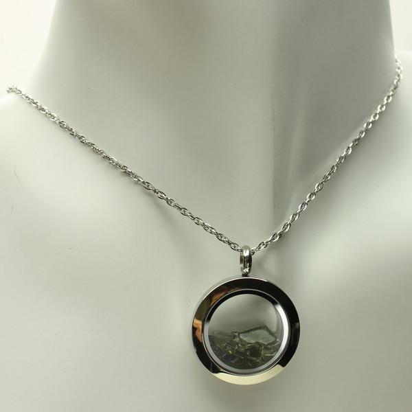 Genuine and Rare, Moldavite Necklace #FLP-020