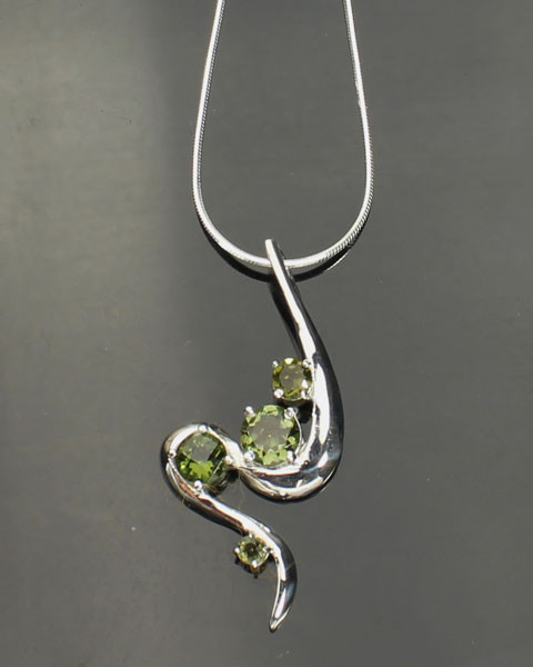 Beautiful Genuine Moldavite Necklace #NE-341