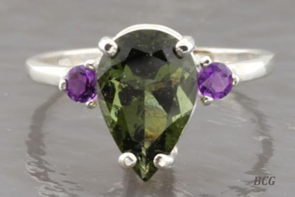 Genuine Moldavite Ring #0623