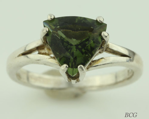 Genuine Moldavite Ring #0631