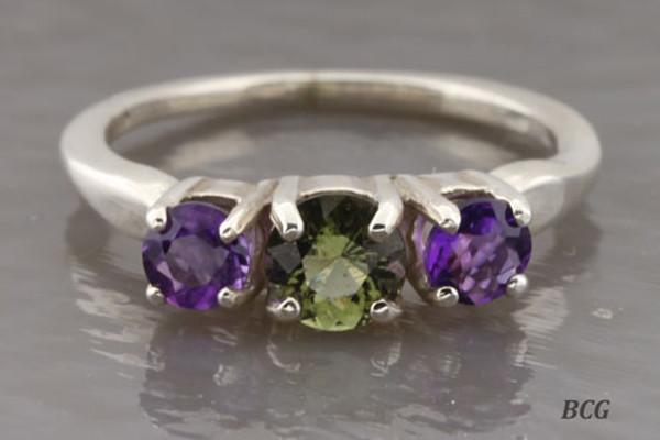 Genuine Moldavite Ring #0636