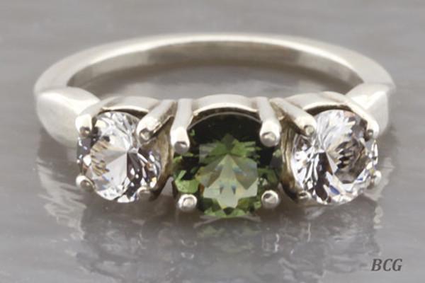 Genuine Moldavite Ring #0639