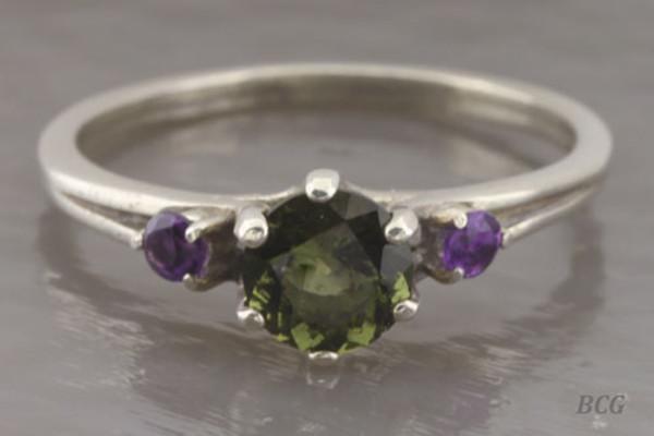 Genuine Moldavite Ring #0642!