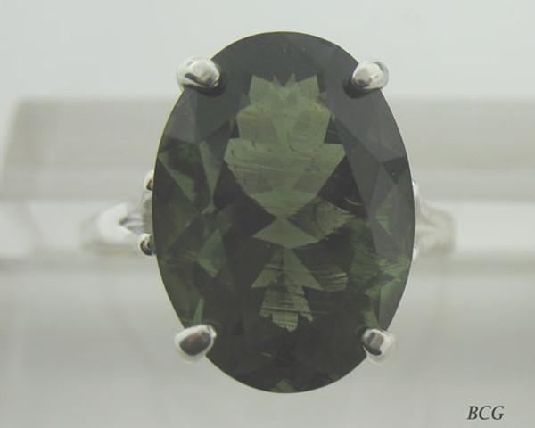 Genuine Moldavite Ring #606!