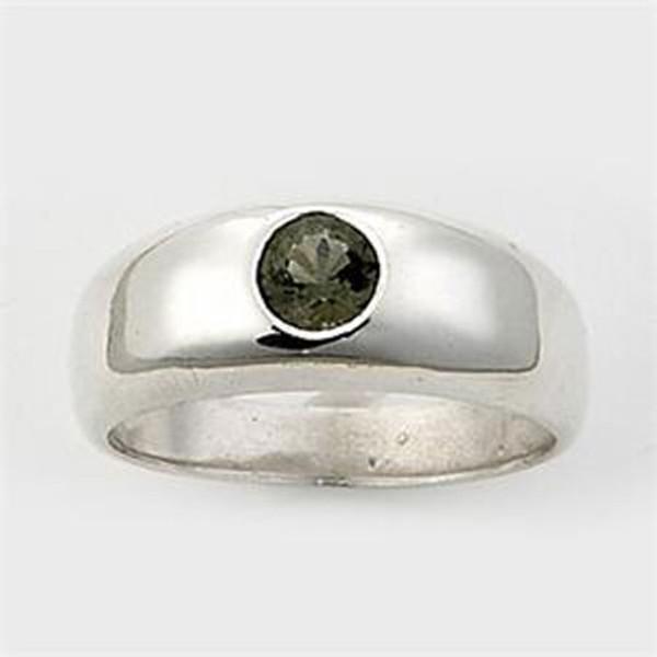 Genuine Moldavite Men's Ring #615