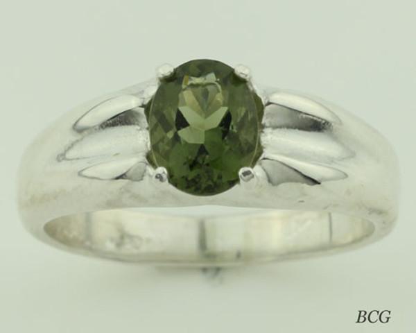 Genuine Moldavite Men's Ring #616