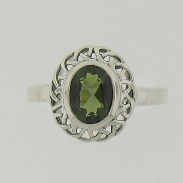 Moldavite Ring #712
