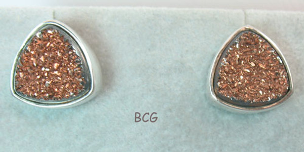 Rose Gold Drusy Earrings #DR-2011