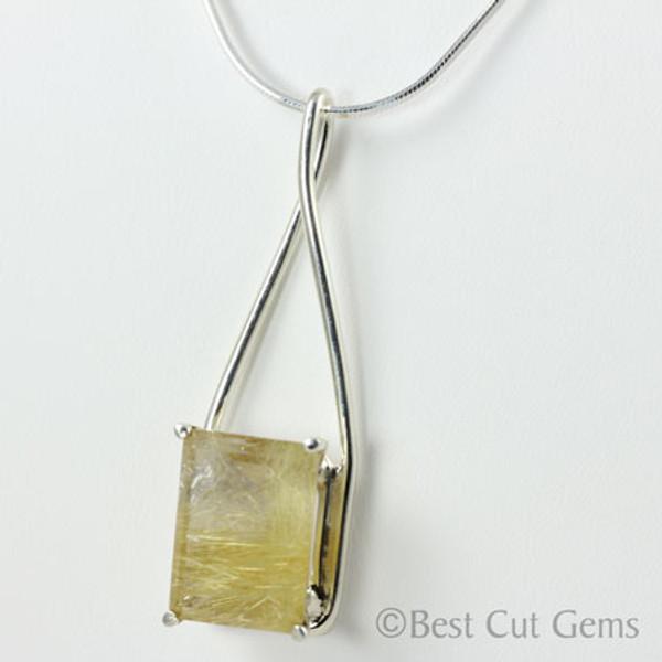 Rutilated Quartz Necklace #128
