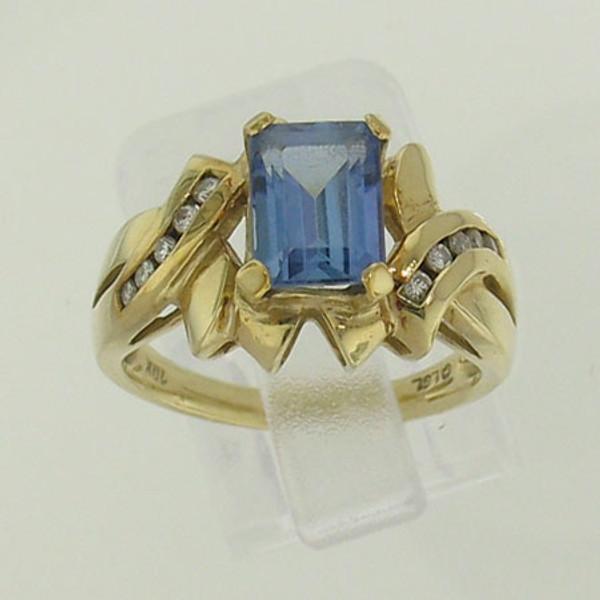 Tanzanite & Diamond Ring #RI-116
