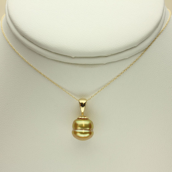 Golden South Sea Pearl Necklace GP-1136