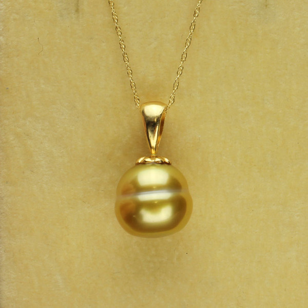 Golden South Sea Pearl Necklace GP-1133