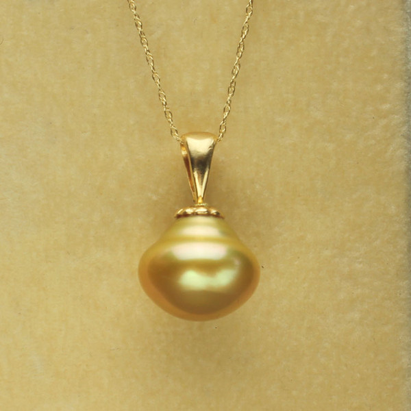 Golden South Sea Pearl Necklace GP-1135