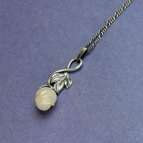 Galatea Rose Pearl Necklace #NE-476