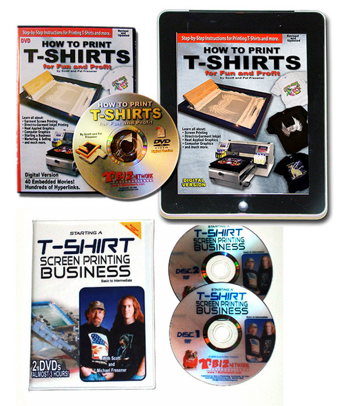 How To Print T-Shirts eBook DVD and Starting a Garment Screen Printing Business Bundle $79.90 Value!