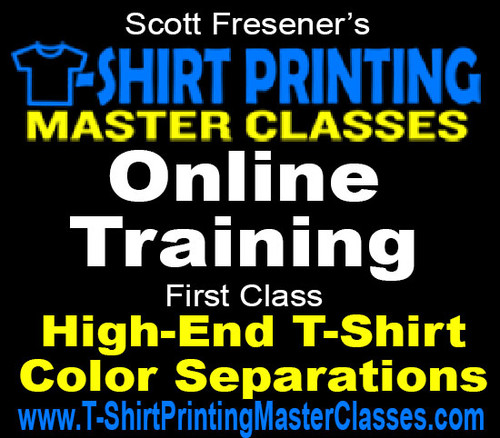 Photoshop, High-End Color Seps, Adobe Illustrator, Screen Printing - Online Master Classes